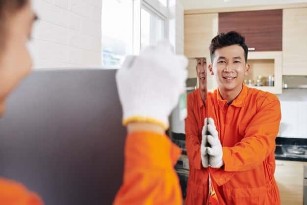 déménagement d'un réfrigérateur par un professionnel